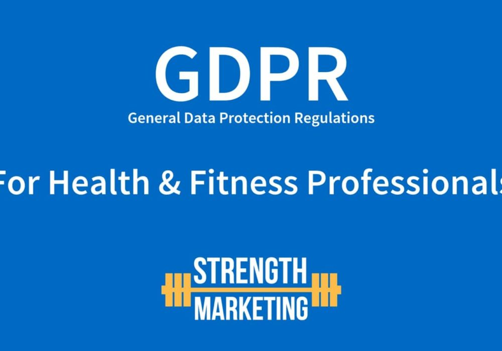 GDPR and Health & Fitness Professionals